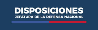 Disposiciones jefatura de la defensa nacional